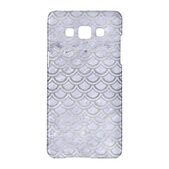Scales2 White Marble & Silver Brushed Metal (r) Samsung Galaxy A5 Hardshell Case  by trendistuff