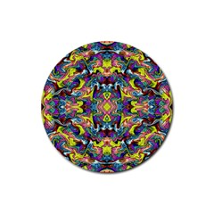 Pattern-12 Rubber Round Coaster (4 Pack)