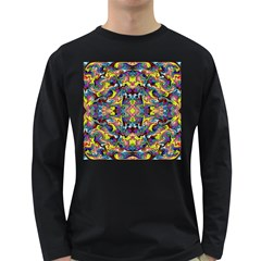 Pattern-12 Long Sleeve Dark T-shirts