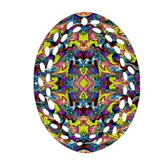 Pattern-12 Oval Filigree Ornament (two Sides)