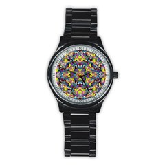 Pattern 12 Stainless Steel Round Watch