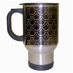 Scales2 White Marble & Silver Brushed Metal Travel Mug (silver Gray) by trendistuff