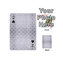 Scales2 White Marble & Silver Brushed Metal Playing Cards 54 (mini)  by trendistuff