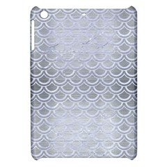 Scales2 White Marble & Silver Brushed Metal Apple Ipad Mini Hardshell Case by trendistuff