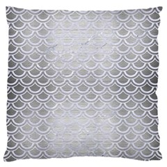 Scales2 White Marble & Silver Brushed Metal Standard Flano Cushion Case (two Sides) by trendistuff