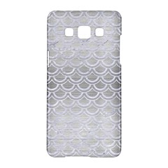 Scales2 White Marble & Silver Brushed Metal Samsung Galaxy A5 Hardshell Case  by trendistuff