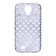 Scales1 White Marble & Silver Brushed Metal (r) Samsung Galaxy S4 Classic Hardshell Case (pc+silicone) by trendistuff