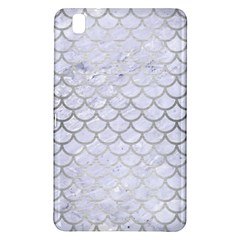 Scales1 White Marble & Silver Brushed Metal (r) Samsung Galaxy Tab Pro 8 4 Hardshell Case by trendistuff