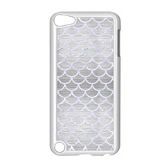 Scales1 White Marble & Silver Brushed Metal Apple Ipod Touch 5 Case (white) by trendistuff