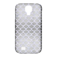 Scales1 White Marble & Silver Brushed Metal Samsung Galaxy S4 Classic Hardshell Case (pc+silicone) by trendistuff