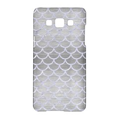 Scales1 White Marble & Silver Brushed Metal Samsung Galaxy A5 Hardshell Case  by trendistuff