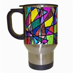 Pattern 13 Travel Mugs (white) by ArtworkByPatrick
