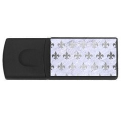 Royal1 White Marble & Silver Brushed Metal Rectangular Usb Flash Drive by trendistuff
