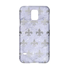 Royal1 White Marble & Silver Brushed Metal Samsung Galaxy S5 Hardshell Case  by trendistuff