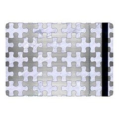 Puzzle1 White Marble & Silver Brushed Metal Apple Ipad Pro 10 5   Flip Case by trendistuff