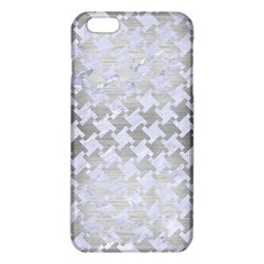Houndstooth2 White Marble & Silver Brushed Metal Iphone 6 Plus/6s Plus Tpu Case by trendistuff