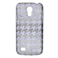 Houndstooth1 White Marble & Silver Brushed Metal Galaxy S4 Mini by trendistuff