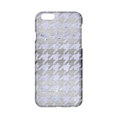 Houndstooth1 White Marble & Silver Brushed Metal Apple Iphone 6/6s Hardshell Case by trendistuff