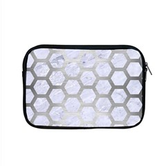Hexagon2 White Marble & Silver Brushed Metal (r) Apple Macbook Pro 15  Zipper Case by trendistuff