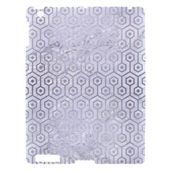 Hexagon1 White Marble & Silver Brushed Metal (r) Apple Ipad 3/4 Hardshell Case by trendistuff