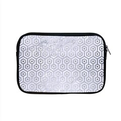 Hexagon1 White Marble & Silver Brushed Metal (r) Apple Macbook Pro 15  Zipper Case by trendistuff
