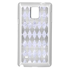 Diamond1 White Marble & Silver Brushed Metal Samsung Galaxy Note 4 Case (white) by trendistuff