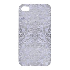 Damask2 White Marble & Silver Brushed Metal (r) Apple Iphone 4/4s Hardshell Case by trendistuff