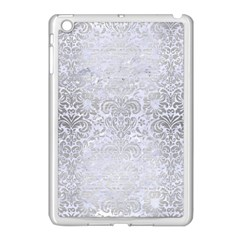 Damask2 White Marble & Silver Brushed Metal (r) Apple Ipad Mini Case (white) by trendistuff