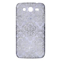 Damask1 White Marble & Silver Brushed Metal (r) Samsung Galaxy Mega 5 8 I9152 Hardshell Case  by trendistuff