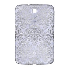 Damask1 White Marble & Silver Brushed Metal (r) Samsung Galaxy Note 8 0 N5100 Hardshell Case  by trendistuff