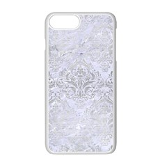 Damask1 White Marble & Silver Brushed Metal (r) Apple Iphone 7 Plus Seamless Case (white) by trendistuff