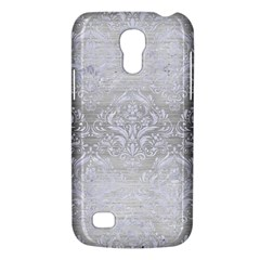 Damask1 White Marble & Silver Brushed Metal Galaxy S4 Mini by trendistuff