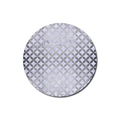 Circles3 White Marble & Silver Brushed Metal (r) Rubber Round Coaster (4 Pack)  by trendistuff