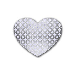 Circles3 White Marble & Silver Brushed Metal (r) Heart Coaster (4 Pack)  by trendistuff