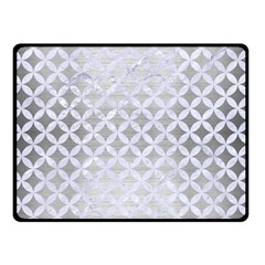 Circles3 White Marble & Silver Brushed Metal Double Sided Fleece Blanket (small)  by trendistuff