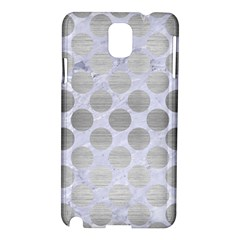 Circles2 White Marble & Silver Brushed Metal (r) Samsung Galaxy Note 3 N9005 Hardshell Case by trendistuff