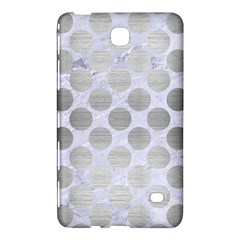 Circles2 White Marble & Silver Brushed Metal (r) Samsung Galaxy Tab 4 (7 ) Hardshell Case  by trendistuff