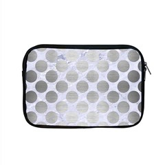 Circles2 White Marble & Silver Brushed Metal (r) Apple Macbook Pro 15  Zipper Case by trendistuff