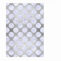 Circles2 White Marble & Silver Brushed Metal Large Garden Flag (two Sides) by trendistuff