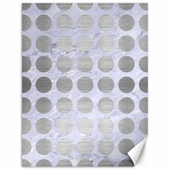 Circles1 White Marble & Silver Brushed Metal (r) Canvas 12  X 16   by trendistuff