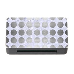 Circles1 White Marble & Silver Brushed Metal (r) Memory Card Reader With Cf by trendistuff