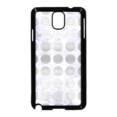 Circles1 White Marble & Silver Brushed Metal (r) Samsung Galaxy Note 3 Neo Hardshell Case (black) by trendistuff