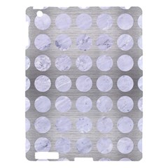 Circles1 White Marble & Silver Brushed Metal Apple Ipad 3/4 Hardshell Case by trendistuff