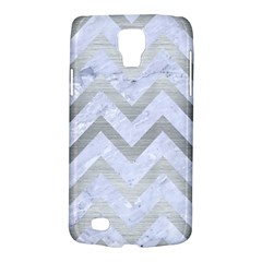 Chevron9 White Marble & Silver Brushed Metal (r) Galaxy S4 Active