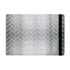 Brick2 White Marble & Silver Brushed Metal Ipad Mini 2 Flip Cases by trendistuff