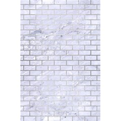 Brick1 White Marble & Silver Brushed Metal (r) 5 5  X 8 5  Notebooks by trendistuff