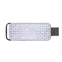 Brick1 White Marble & Silver Brushed Metal (r) Portable Usb Flash (two Sides) by trendistuff