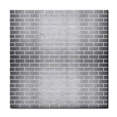 Brick1 White Marble & Silver Brushed Metal Tile Coasters by trendistuff