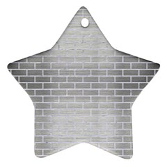 Brick1 White Marble & Silver Brushed Metal Star Ornament (two Sides) by trendistuff