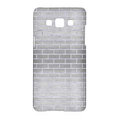 Brick1 White Marble & Silver Brushed Metal Samsung Galaxy A5 Hardshell Case  by trendistuff
